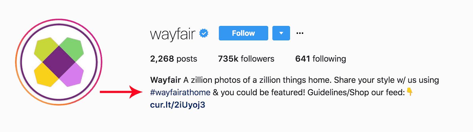 Screenshot showing an instagram profile