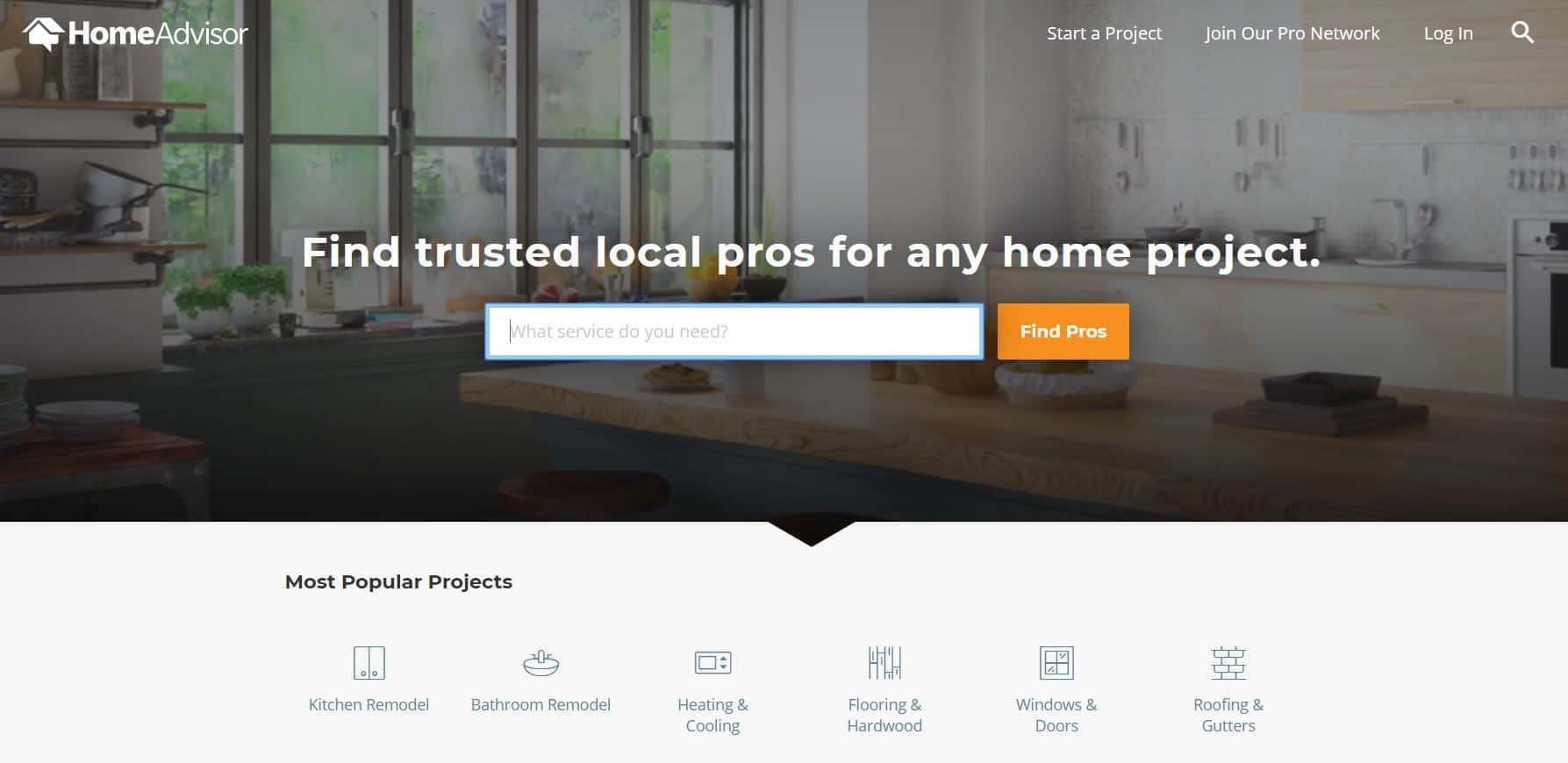 homeadvisor home page